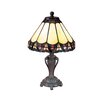 "Dale Tiffany Peacock 13.5"" H Table Lamp with Empire Shade"
