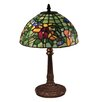 """Dale Tiffany Pansy 16"""" H Table Lamp with Bowl Shade"""