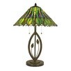 """Dale Tiffany Carnes 26"""" H Table Lamp with Empire Shade"""