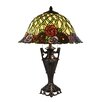 "Dale Tiffany Misty Rose 23"" H Table Lamp with Bell Shade"