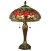 """Dale Tiffany Dragonfly 25"""" H Table Lamp with Bowl Shade"""