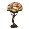 "Dale Tiffany Water Lily 15.3"" H Table Lamp with Bowl Shade"