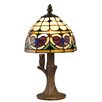 """Dale Tiffany Valentine 13"""" H Table Lamp with Bowl Shade"""