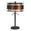 "Dale Tiffany Cobblestone 22.5"" H Table Lamp with Drum Shade"