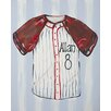 Renditions by Reesa Personalized Baseball Jersey Canvas Art