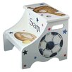 Renditions by Reesa 2-Step Manufactured Wood Personalized All Sport Step Stool with 200 lb. Load Capacity