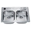 "Dawn USA 33"" x 22"" Top Mount Equal Double Bowl Kitchen Sink"