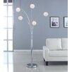 Artiva USA Manhattan 5-Arch Crystal Ball Arched Floor Lamp