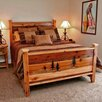 Utah Mountain Barnwood Panel Bed with Square Legs