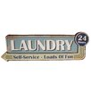 American Mercantile Metal Sign 'Laundry 24 Hrs' Wall Decor