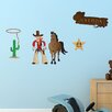 Style and Apply Colorful Cowboy Wall Decal