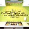 Style and Apply Coffee World Wall Decal