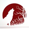Style and Apply Howling Wolf Wall Decal