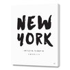 Curioos New York Location Coordinates by Renee Tohl Textual Art on Canvas