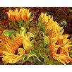 Prestige Art Studios Four Sunflowers Painting Print