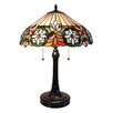 "Fine Art Lighting Tiffany 25"" H Table Lamp with Bowl Shade"