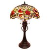 """Fine Art Lighting Tiffany 27.5"""" H Table Lamp with Bowl Shade"""