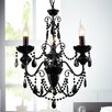 Crystal World Keen 3 Light Candle Chandelier
