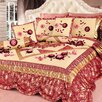Tache Home Fashion Rose Garden 6 Piece Comforter Set