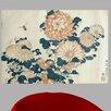 Wallhogs Hokusai Chrysanthemums Poster Wall Mural