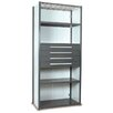 "Equipto V-Grip 84"" Shelving with Drawers Unit - 4Drw/5Shelf Closed Starter,  4 drawers - (4) 4.5"" H; 400 lb capacity"