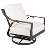 Castellano by Ancient Mosaic Studios Catalina Cast Aluminum Lounge Swivel Rocker Chair with Cushion