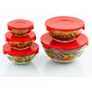 Imperial Home 5 Piece Stackable Glass Storage Bowl Set
