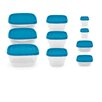 Imperial Home 20 Piece Reusable Plastic Lunch Box Container Set