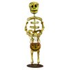 Shea's Wildflowers Decorative Standing Skeleton Man with Pumpkin
