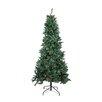 Northlight Seasonal 9' Slim Pine Artificial Christmas Tree with Multi-Color Lights