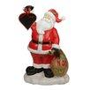 Northlight Seasonal Festive Santa Claus Holding Toy Sack Statue