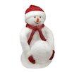 Northlight Seasonal Fluffy Sparkling Plush Snowman with Snowball Figure