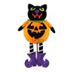 Northlight Seasonal LED Standing Cat Jack-O-Lantern Pumpkin Halloween Decoration