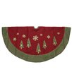 Northlight Seasonal Natural Christmas Tree Skirt with Blanket Stitching Trim