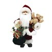 Northlight Seasonal Santa Claus in Traditional Suit Holding a Teddy Bear and Gift Bag Christmas Figure