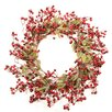 Northlight Seasonal Festive Red Berry and Holly Leaves Unlit Artificial Christmas Wreath