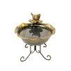 Northlight Seasonal Solar Powered Bronze Tone Bird Floral Outdoor Garden Water Fountain