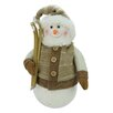 Northlight Seasonal Alpine Chic Snowman with Skis and Mistletoe Christmas Decoration