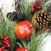 Northlight Seasonal Autumn Harvest Mixed Pine Berry and Nut Thanksgiving Fall Wreath with Unlit