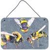 Caroline's Treasures Bee Bees Times Three Aluminum Hanging Painting Print Plaque