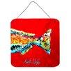 Caroline's Treasures Fish Red Fish Alphonzo Tail Aluminum Hanging Painting Print Plaque