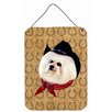 Caroline's Treasures Bichon Frise Dog Country Lucky Horseshoe Hanging Painting Print Plaque