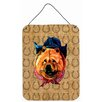 Caroline's Treasures Chow Chow Dog Country Lucky Horseshoe Hanging Painting Print Plaque