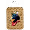 Caroline's Treasures Doberman Dog Country Lucky Horseshoe Hanging Painting Print Plaque