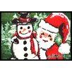 Caroline's Treasures Friends Snowman and Santa Claus Doormat