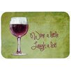 Caroline's Treasures Wine a Little Laugh a Lot Kitchen/Bath Mat