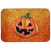 Caroline's Treasures October Pumpkin Halloween Kitchen/Bath Mat