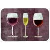 Caroline's Treasures Three Glasses Of Wine Purple Kitchen/Bath Mat