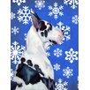 Caroline's Treasures Great Dane Winter Snowflakes Holiday 2-Sided Garden Flag