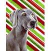 Caroline's Treasures Weimaraner Candy Cane Holiday Christmas 2-Sided Garden Flag